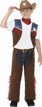 Kids Texan Cowboy Rodeo Wild West Western Sheriff Costume