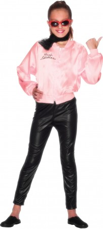 Kids 50's 1950's Grease Pink Lady Satin Jacket Costume 27490_3