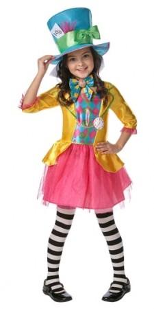 Mad Hatter Girls Alice in Wonderland Costume