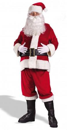 Santa Claus Christmas Costumes - Flannel Santa Claus Suit Clause Christmas Xmas Fancy Dress Adult Costume (