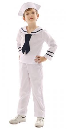 kids white sailor costume vb4004