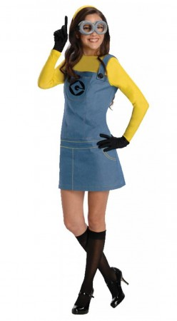 Female Minion Despicable Me Fancy Dress Up Outfit Licensed Costume + Goggles