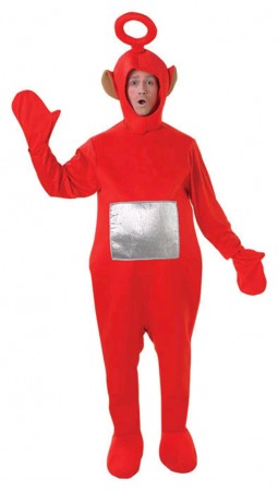 Teletubbies Costume Party Fancy Dress Up Licensed Outfit Unisex  Po (Red)  Adult TV Show Jumpsuit