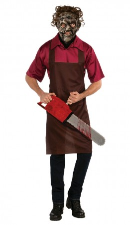 Licensed Adult Mens Leatherface Texas Chainsaw Massacre Halloween Costume