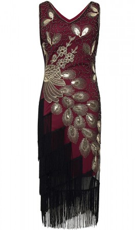 womens 1920 gatsby costume front picture lx1051r-3