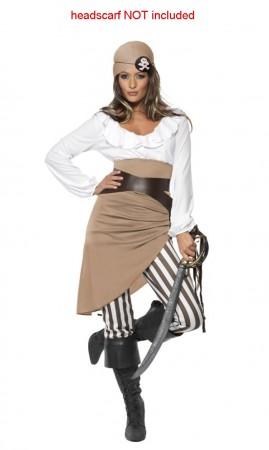 Ladies Shipmate Sweetie Pirate Fancy Dress Costume