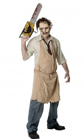Texas Chainsaw Massacre Leatherface Adult Costume with Mask Adult Halloween fancy dress costume