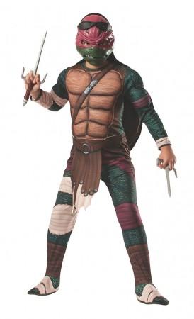 Movie/TV/Cartoon Costumes - TV Show TMNT Teenage Mutant Ninja Turtles Costume Licensed Rubie's Raphael Red
