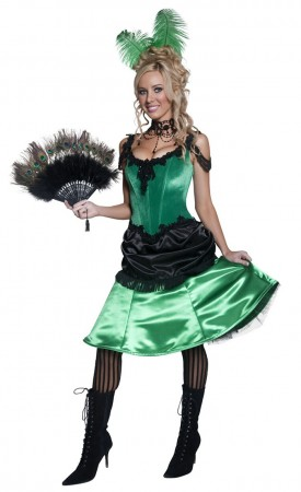 Authentic Western Saloon Girl Costume cs36158_2