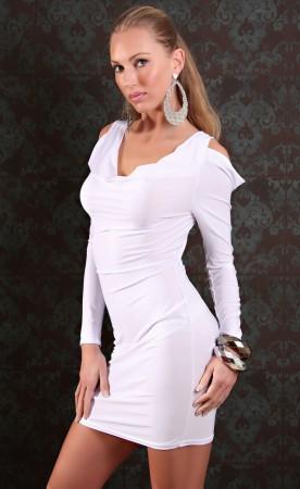 Club Wear - Mini Club Dress with Sexy Back Neckline