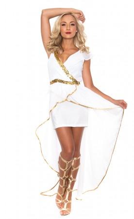 UK Women Cleopatra Goddess Roman Egyptian  Halloween Fancy Dress Adult Costume