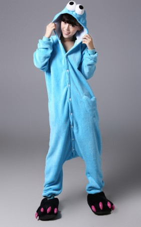 Onesies & Animal Costumes Australia - Cookie Monster Onesie Animal Costume