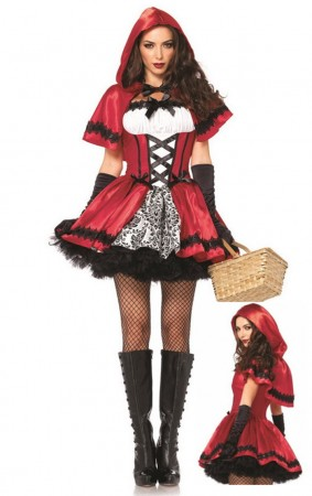 Red Riding Hood Costumes - Ladies Little Red Riding Hood Costume Fancy Dress Halloween Hens Party Outfit