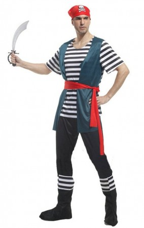 Pirate Costumes - Mens Caribbean Pirate Dress Up Costume
