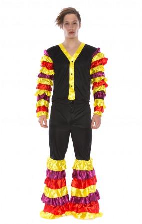 Mens Latin Rumba Flamenco Dancer Fancy Dress Costume
