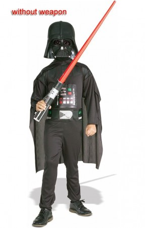 Kids Childrens Star Wars Darth Vader Black Costume Party Dress Up