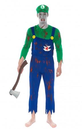 Adult Luigi Zombie Bloody Halloween Costume