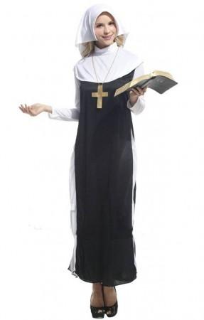 Nun Costumes - Ladies Sexy Sister Nun Fancy Dress Halloween Costume