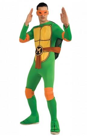 Movie/TV/Cartoon Costumes - TV Show TMNT Teenage Mutant Ninja Turtles Costume Rubie's Michelangelo Orange