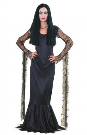The Addams Family Morticia Adult Licensed Costume Fancy Dress Halloween
