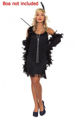 Ladies 20s Charleston Flapper Black Chicago Costume