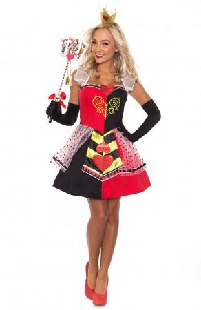 Alice In Wonderland Costumes - Ladies Queen of Hearts Alice in Wonderland Costume