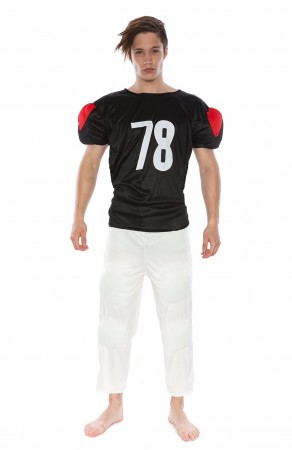 Football Player Costumes - Mens American Football Player Halloween Fancy Dress Adult Costume