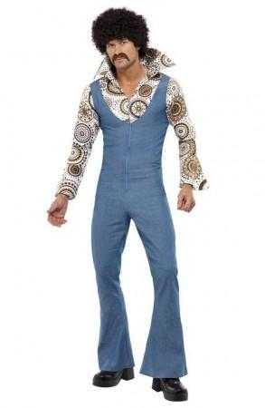 60s, 70s Costumes Australia - 1970s 70s Licensed Groovy Dancer Mens Fancy Dress 70s Party Retro Go Go Costume Disco