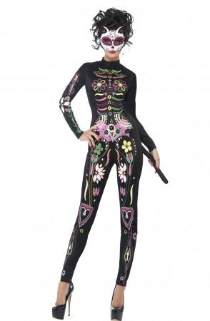 Sugar Skull Cat Costume CS43735