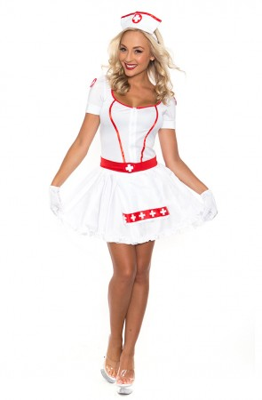 Nurse Costumes - Ladies Nurse Uniform Doctor Medical Fancy Dress Up Hens Party Costume Outfit