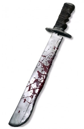 Accessories - Friday The 13th Jason Voorhees Chrome Plated Machete with Sound Rubies licensed Accessories