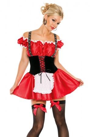 Oktoberfest Costumes Australia - Ladies Oktoberfes Costume Wench Beer Maid Gretchen German Heidi Fancy Dress Up