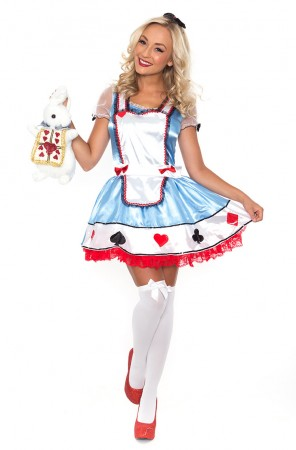 Alice in Wonderland Costume Queen of Hearts Poker Alice Mad Hatter Fancy DressAlice In Wonderland Costumes -