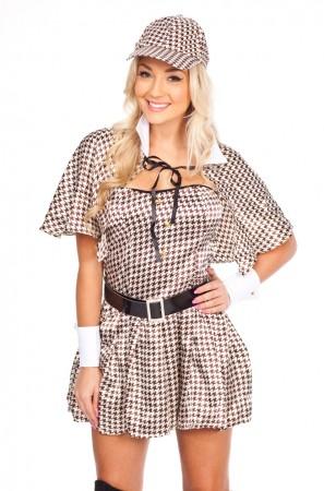 Movie/TV/Cartoon Costumes - Ladies Sherlock Holmes Detecter Movie Star Halloween Fancy Dress Costume
