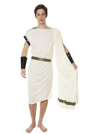 Roman Greek Costumes - Caesar Adult Roman Greek Julius Toga Costume Fancy Dress Halloween Outfit