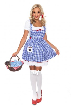 Dorothy Costumes - Ladies Wizard of OZ Dorothy Fancy Dress Storybook Hens Party Costume Halloween Outfit