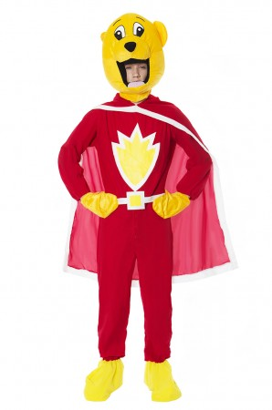 Movie/TV/Cartoon Costumes - Adult Mens SupterTed Teddy Bear 80s TV Cartoon Fancy Dress Costume