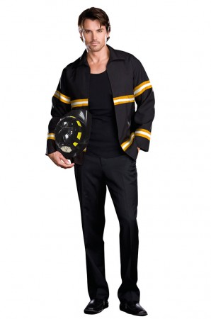 Fire Fighter Costumes - Mens Adult Fireman Fire Fighter Uniform Fancy Dress Costume Halloween Outfit