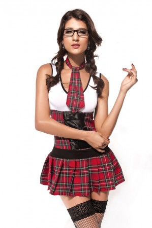 School Girl Costumes - Ladies Sexy School Girl costume Teachers Pet Fancy Dress Hens Night Party Outfit