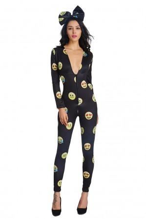Emoji Jumpsuit Costume ld1002