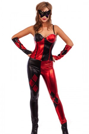 Circus Themed Costumes - Evil Jester Circus Horror Joker Fancy Dress