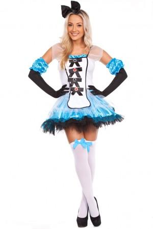 Queen Of Hearts Alice Costumes LG-5022_1