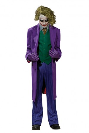 Batgirl & Batman Costumes - Batman Dark Knight The JOKER Grand Heritage Collection Fancy Adult Costume