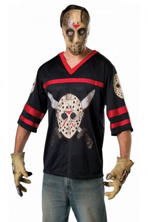 Movie/TV/Cartoon Costumes - Adult Horror Movie Jason Voorhees Hockey Costume Halloween Party Outfit & Mask