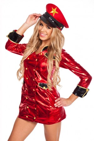 Cops & Robbers Costumes - New Ladies Woman Red Cop Police Uniform Party Fancy Dress Costume Outfit