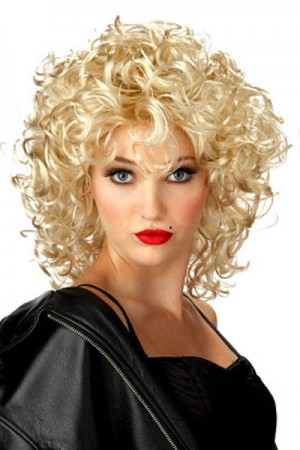Wigs - Ladies Funky Lite Curly Blonde Wig Costume Accessories