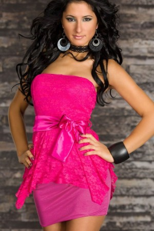 Pink Double-layer Package Hip Tutu Dress