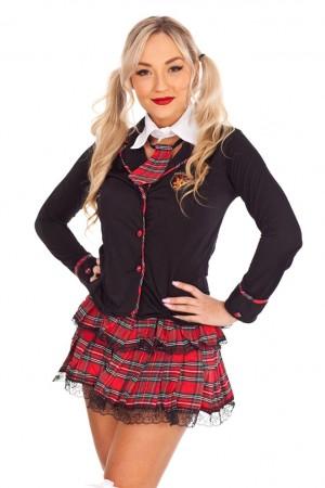 School Girl Costumes - Ladies Sexy School Girl costume Teachers Pet Fancy Dress