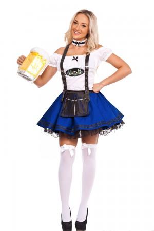 Ladies Blue Oktoberfest Beer Maid Costume lg204blue