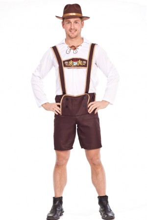 Mens Lederhosen embroidery Costume NO HAT lh202NOHAT